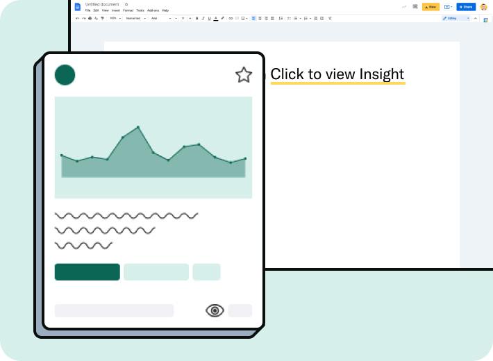 Avrio Insight embedded in Google Docs