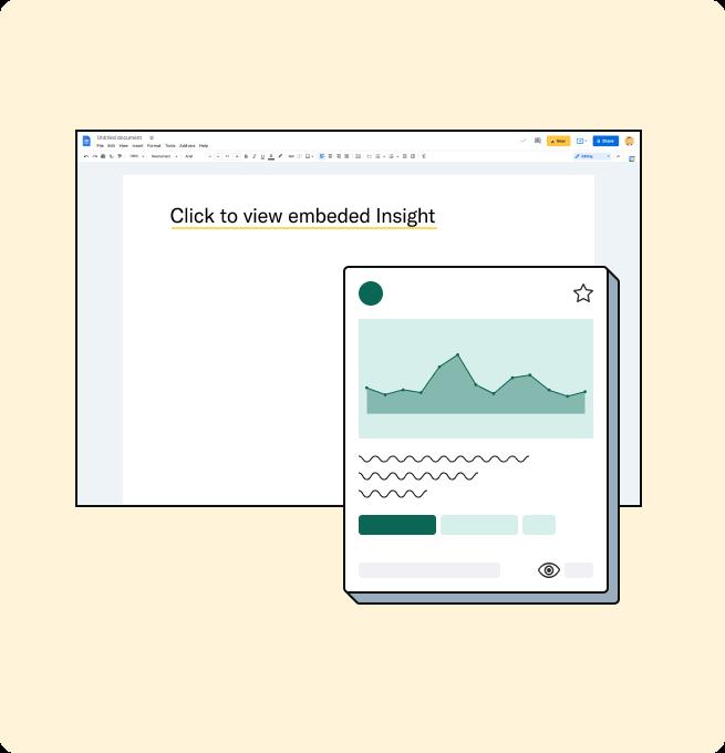 Embedded Avrio Insight in Google Doc