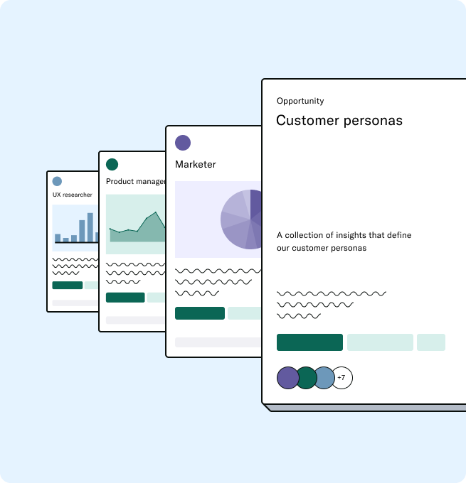 An opportunity showing a collection of Insights around customer personas