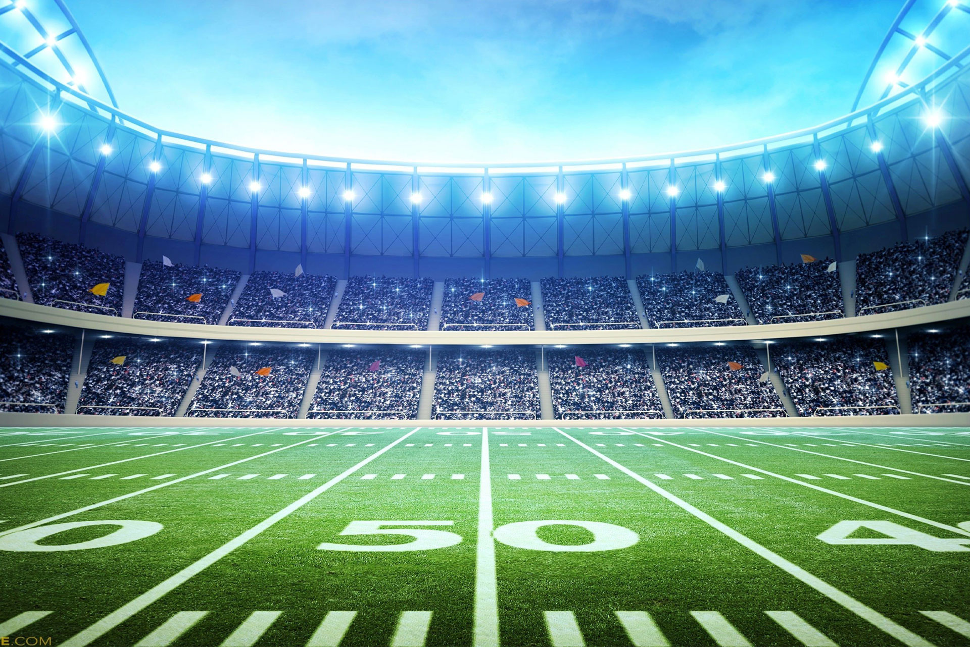 Image of a football field