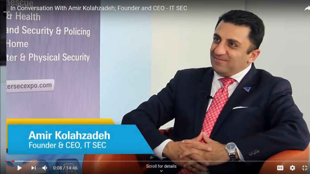 IN CONVERSATION WITH AMIR KOLAHZADEH; FOUNDER AND CEO | IT SEC