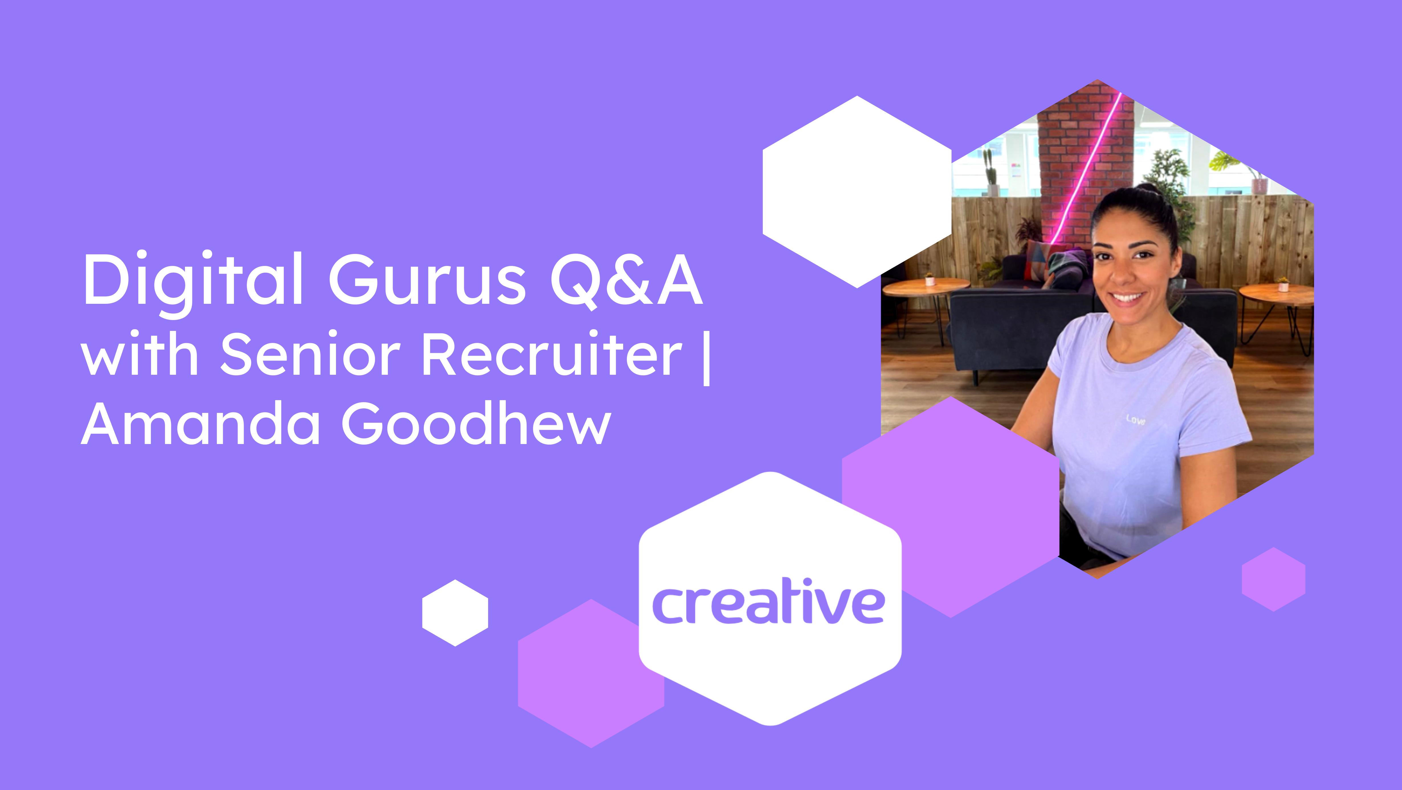Meet Creative recruitment expert - Amanda Goodhew