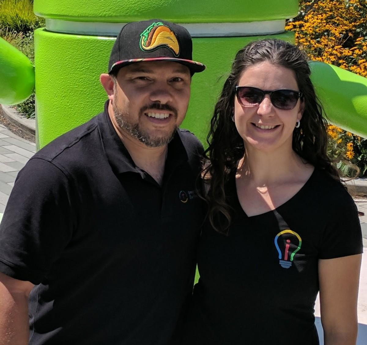 Kat Goyette and Adam Juarez