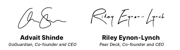 Advait and Riley signatures