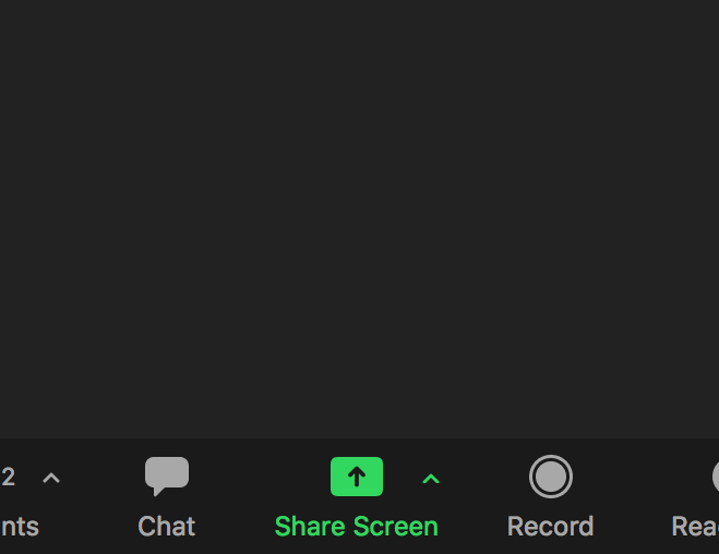 Zoom - Share Screen prompt