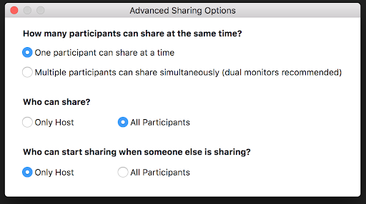 Zoom - who can share?