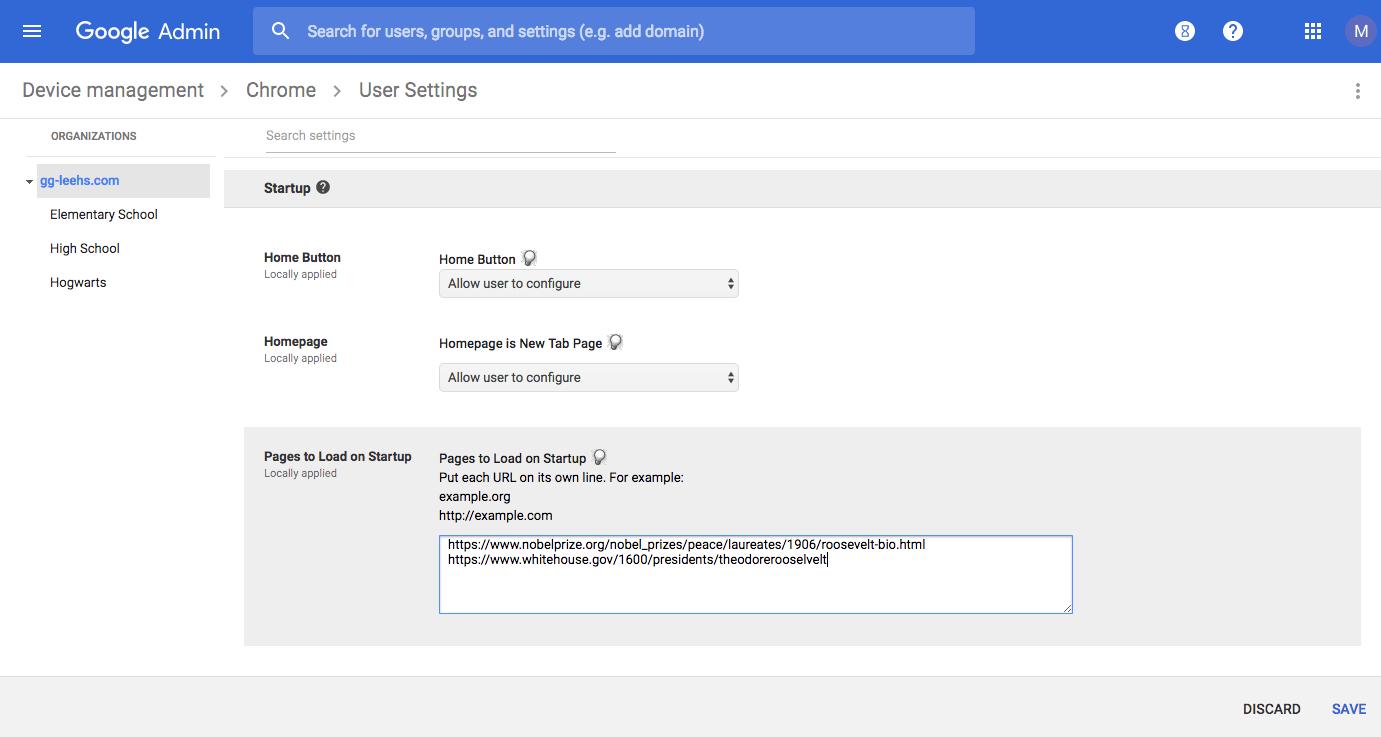 Chrome User Settings (save) in GAC