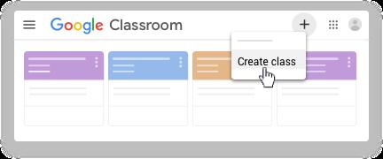 Google classroom - create classroom