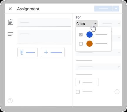 google classroom - multi class assignment