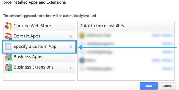 Specify Custom App