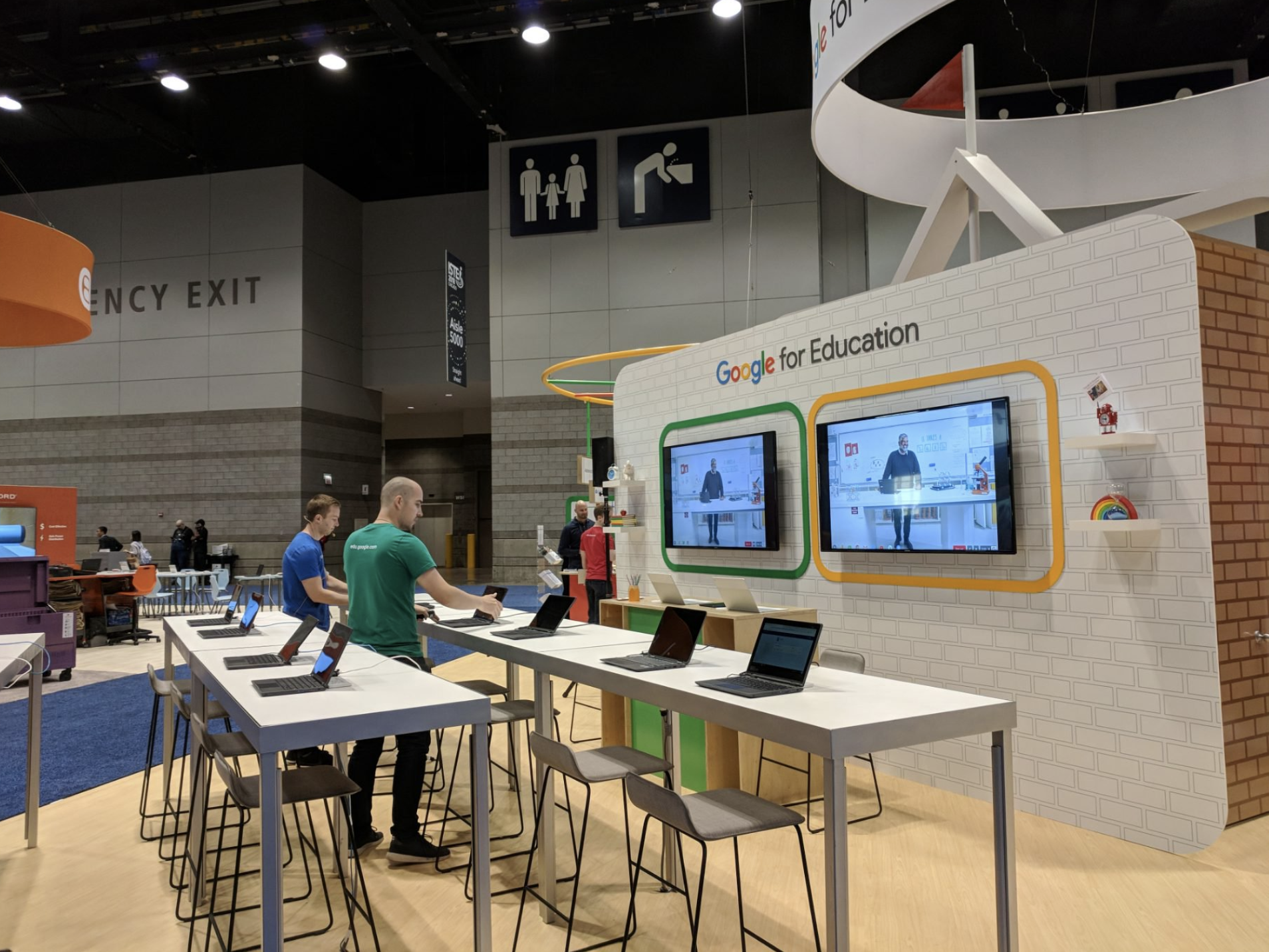 google booth at ISTE