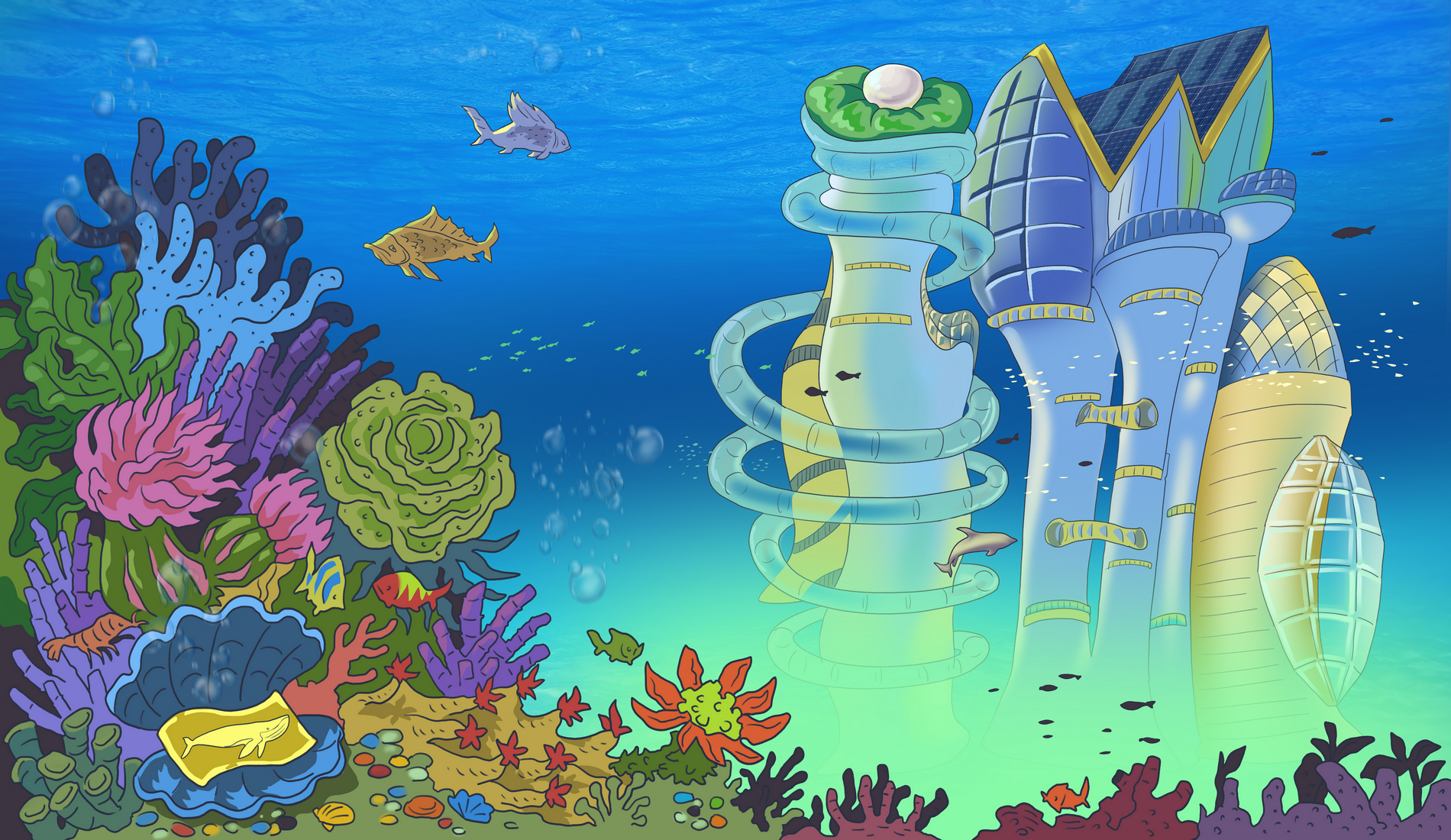 The city of Atlantis, home of the whales.