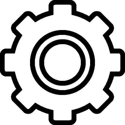 Settings wheel icon