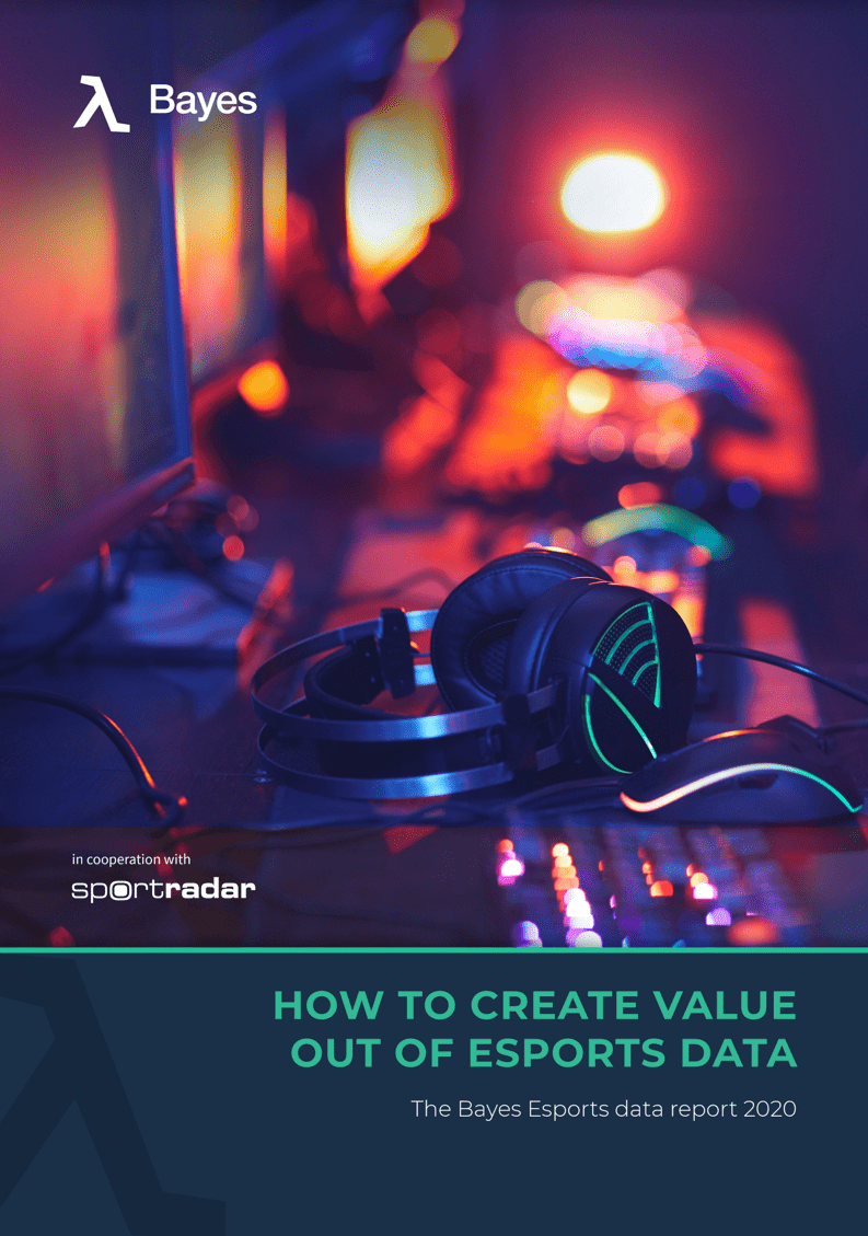 """Bayes white paper titled """"How to create value out of esports data"""""""