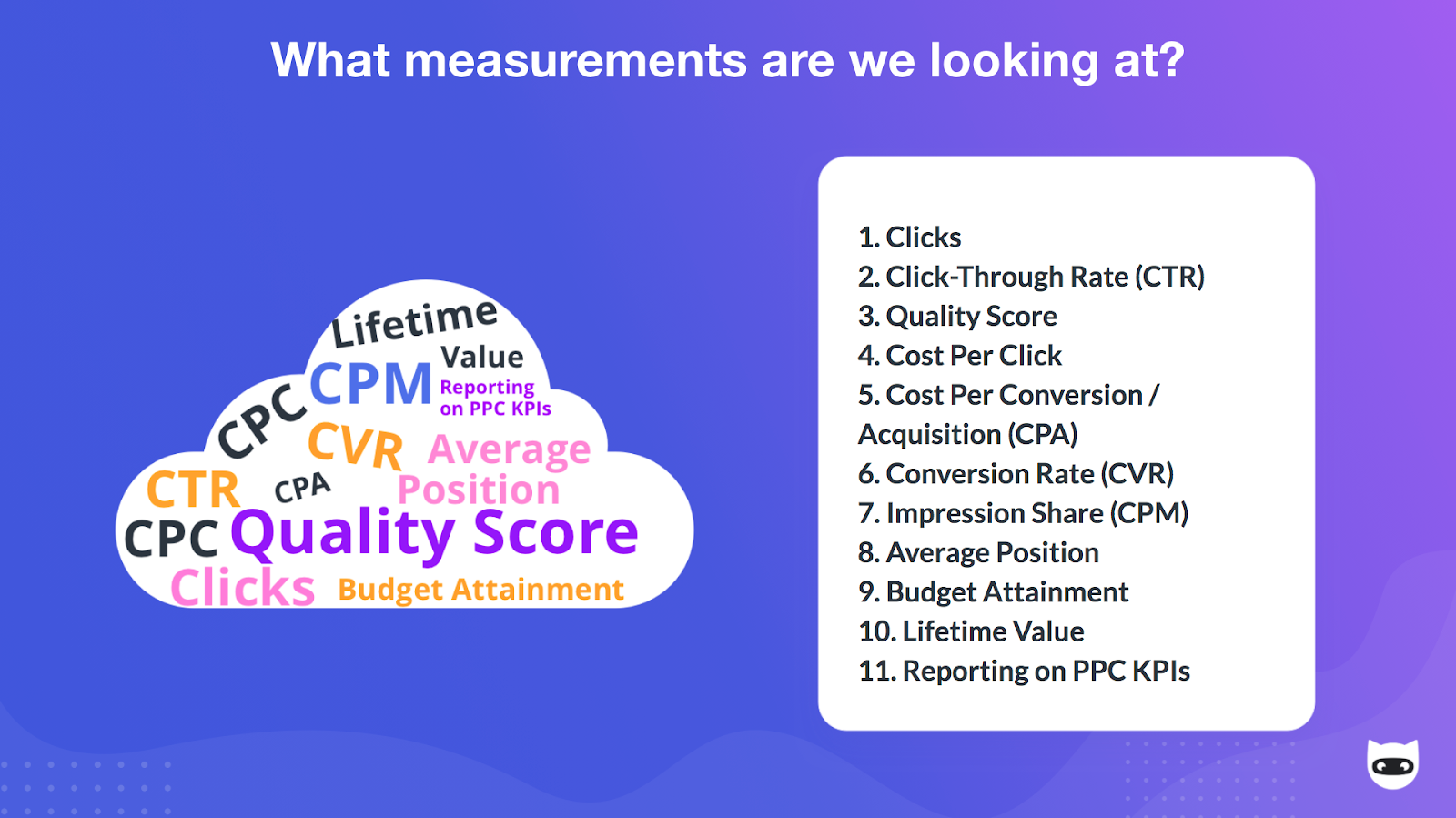 Common Digital Marketing Performance Metrics by NinjaCat