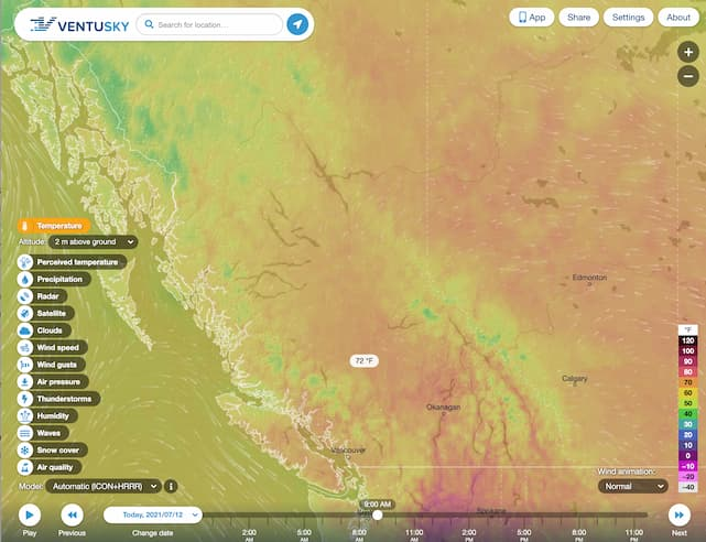 Ventusky Visual Weather Mapping