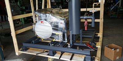 Custom skid mounted hot water boilers