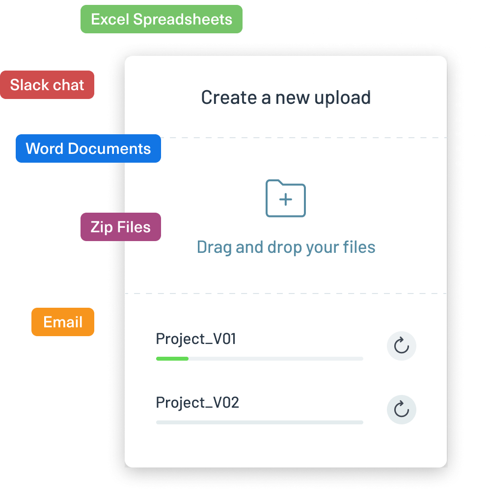 Logikcull makes getting into your data as easy as a drag and drop upload