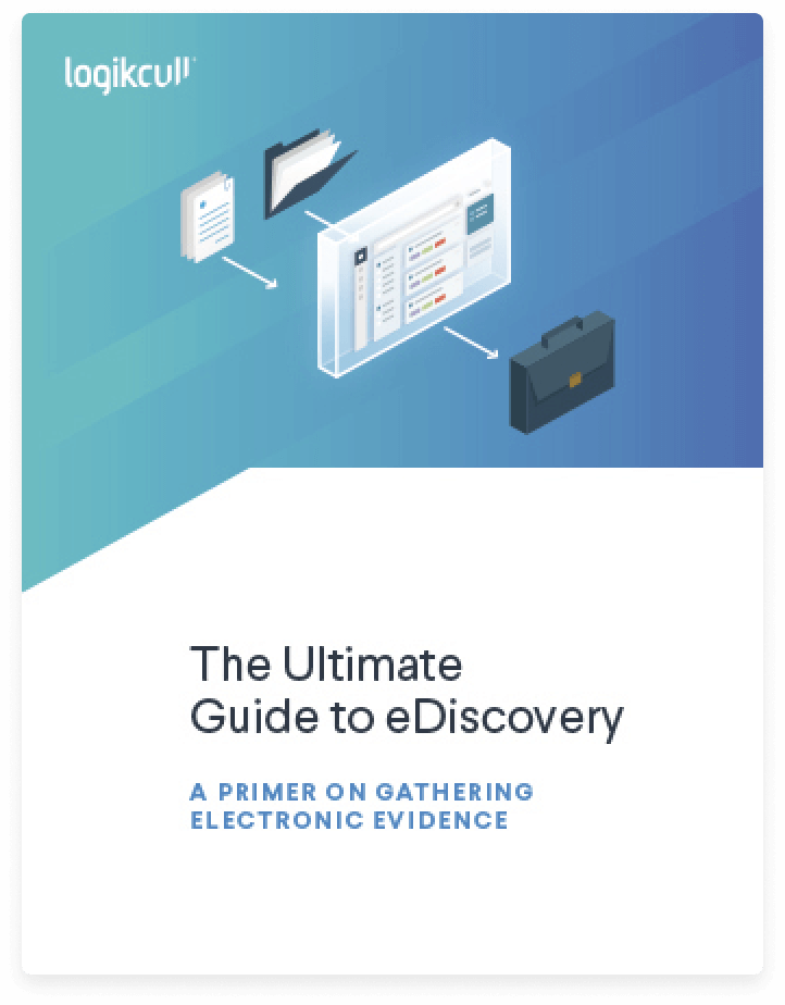 Cover of The Ultimate Guide to eDiscovery, downloaded by 10,000-plus legal professionals