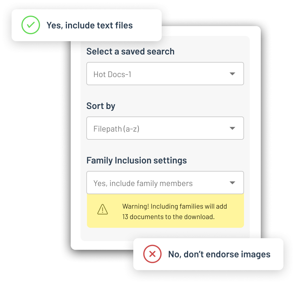 """Logikcull helps you avoid the """"Whoops."""" Built in quality control warnings help you find potentially privileged docs and warn of possible production errors."""