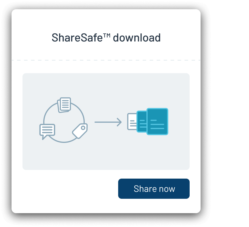 Securely share your documents and productions directly, via a secure, revokable link with a built-in audit trail.