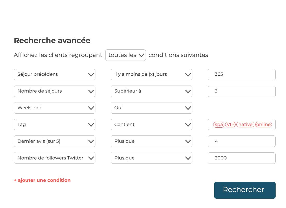 newsletter filtre segmentation avancé LoungeUp