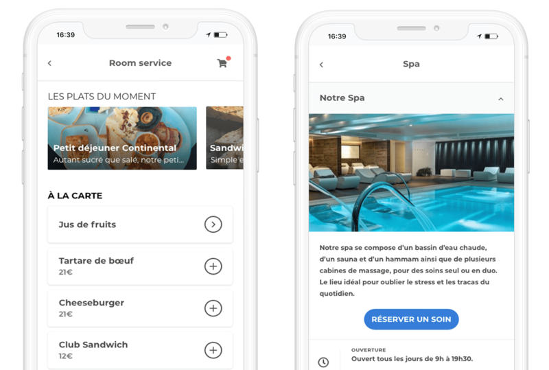 room service app loungeup spa restaurant mobile