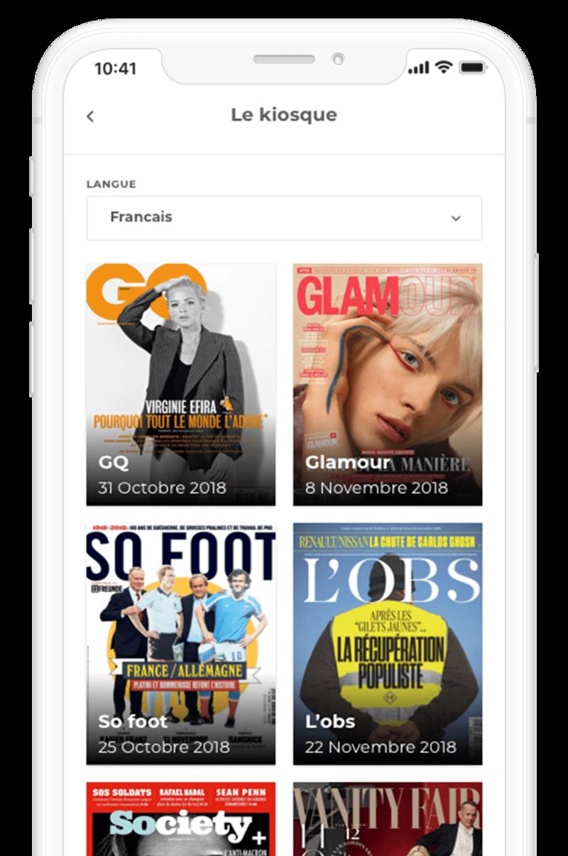 presse numérique loungeup application mobile