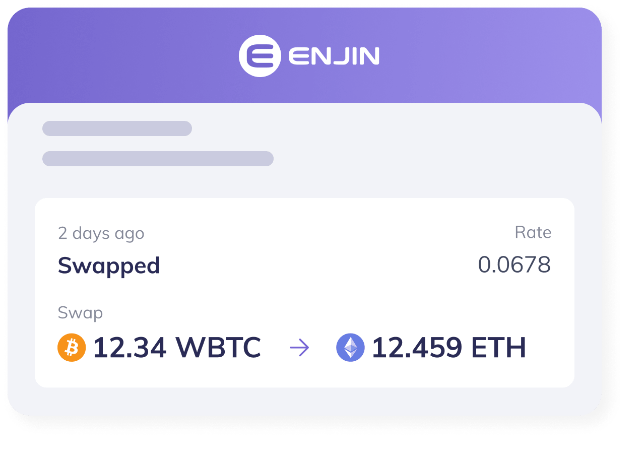 Convert Crypto With Enjin