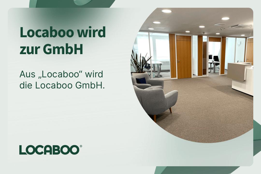 Designelement mit Aufnahme vom Locaboo Büro in München.