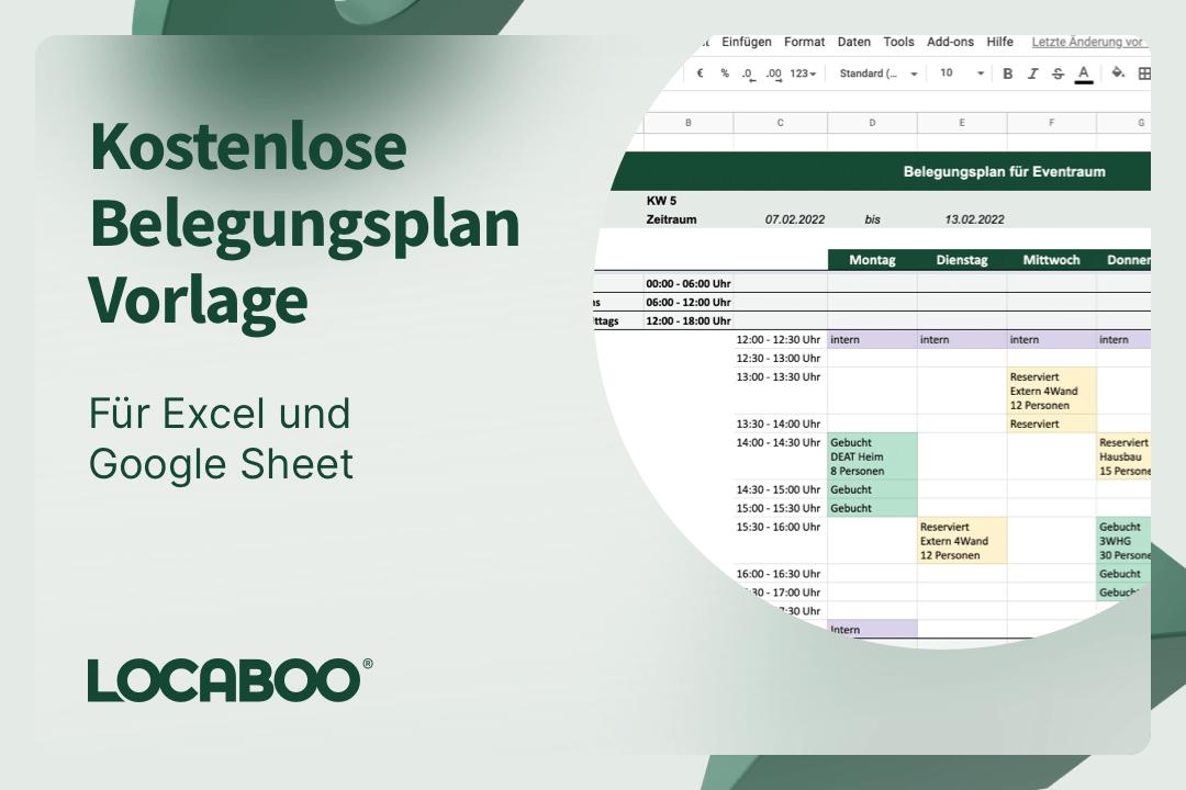 Excel Belegungsplan Vorlage herunterladen (auch als Google Sheet)