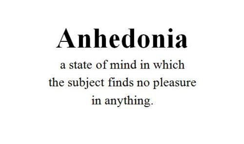 Anhedonia – The Secret Killer.