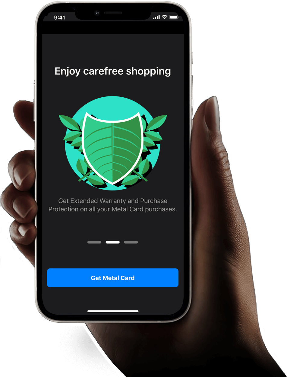 Purchase Protection and Extended Warranty screen