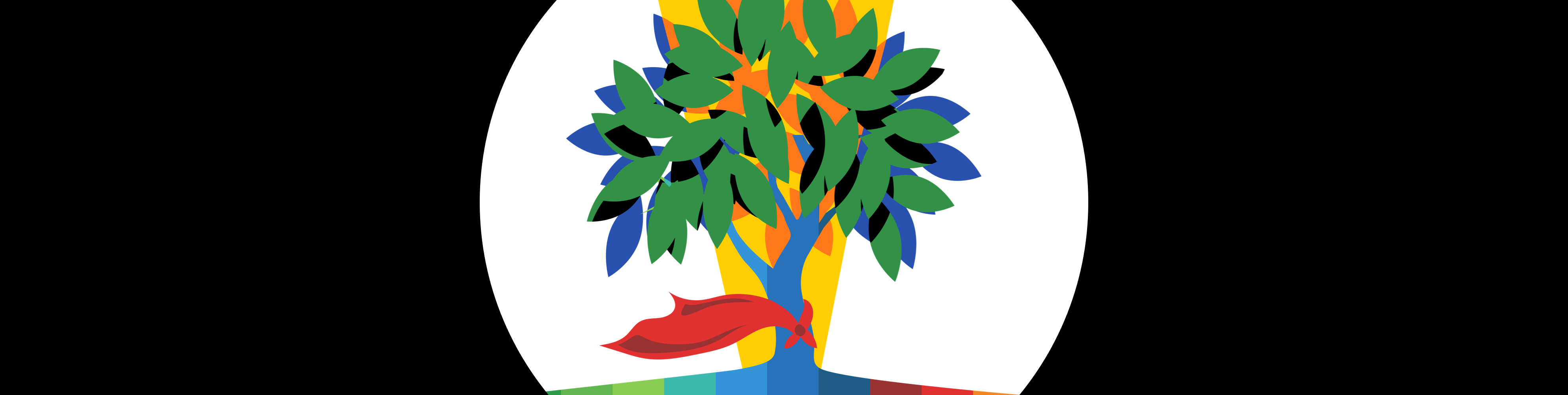 Illustrated tree with a cape
