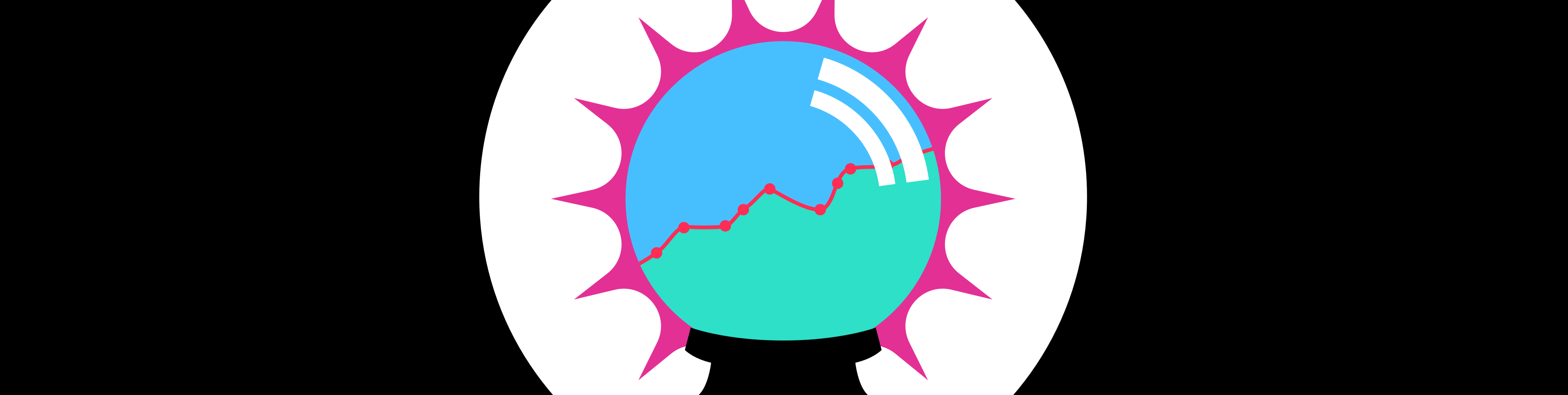 Illustrated future globe with graph