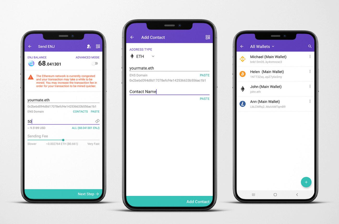 Enjin Wallet: Contacts Update