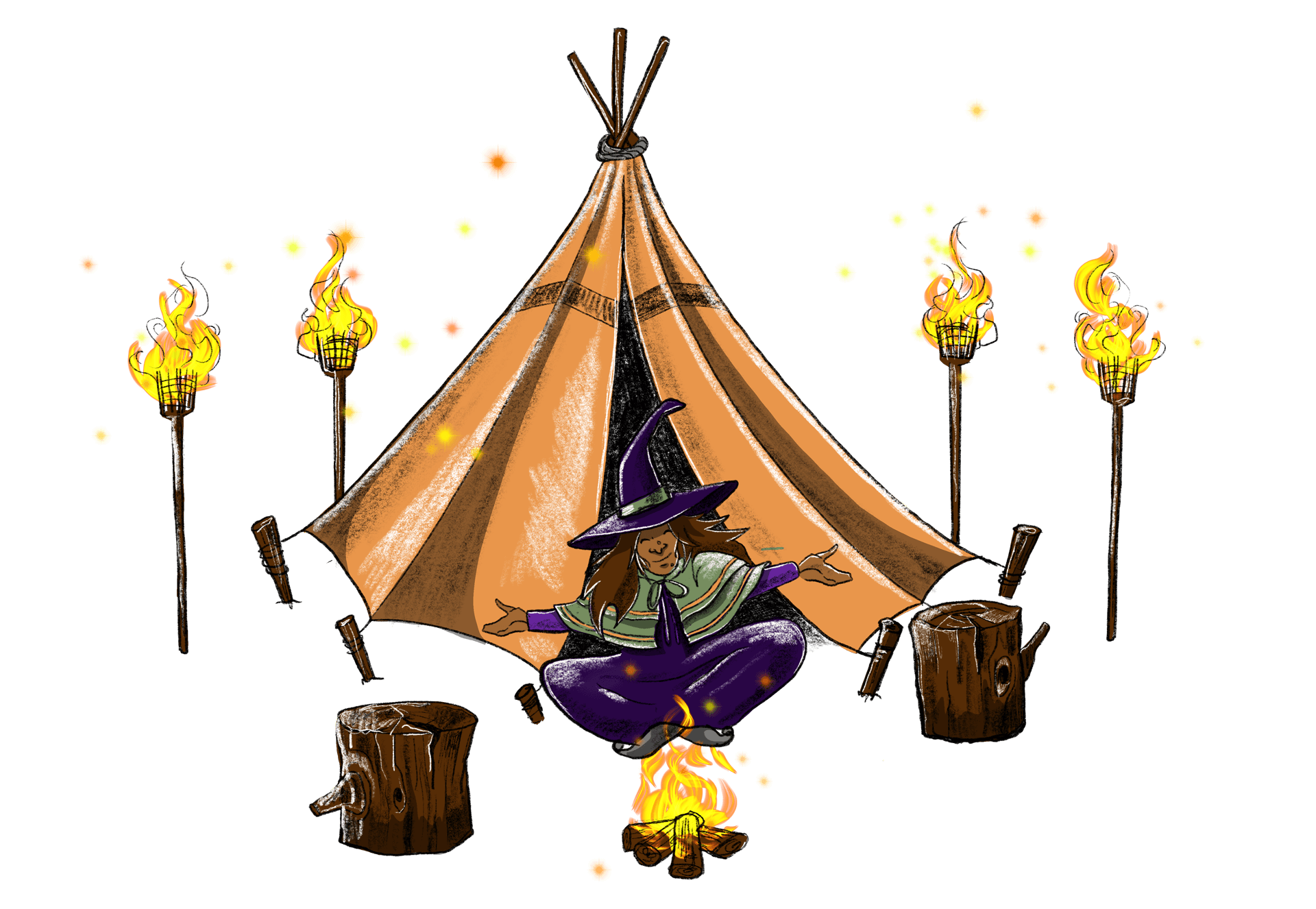 Spooky Spectacles Spooky Stories Tipi