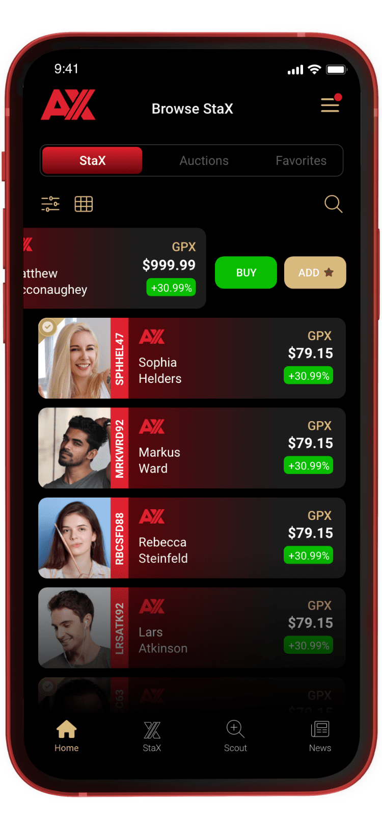 Image of VirtualStax App on mobile phone