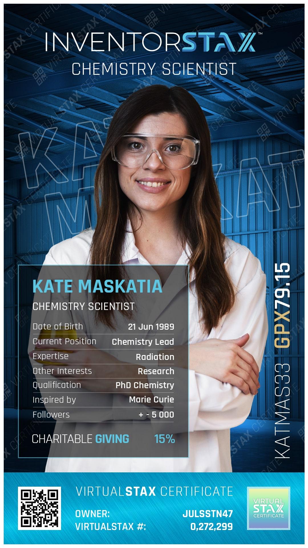 INX Trade Card Kate Maskatia