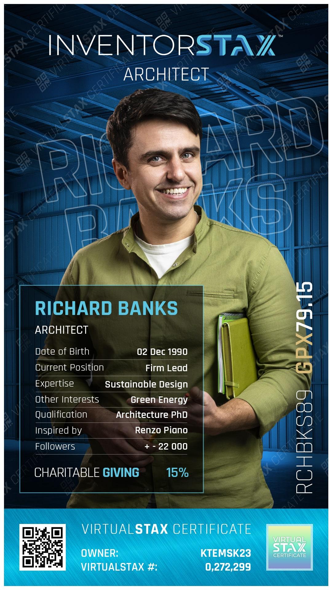 INX Trade Card Richard Banks
