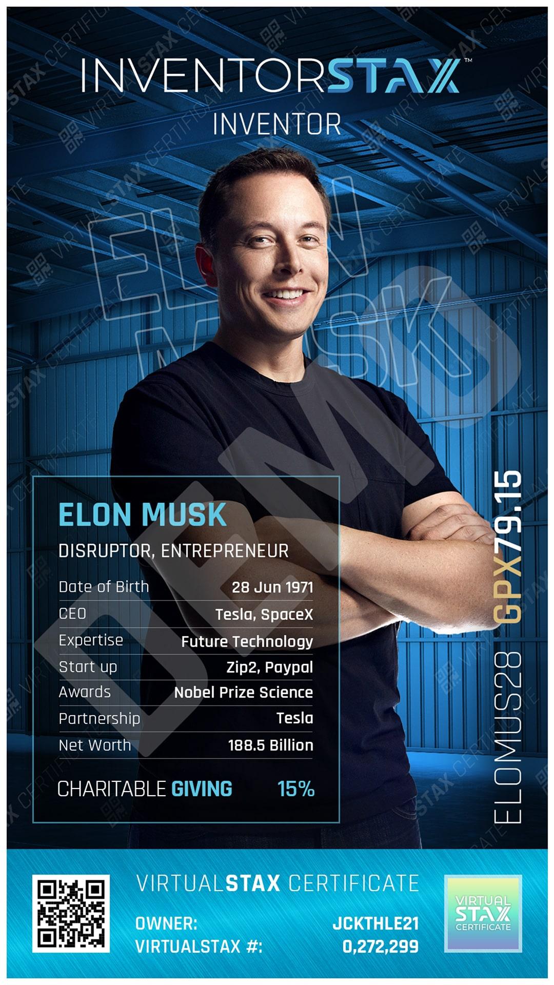 INX Trade Card Elon Musk