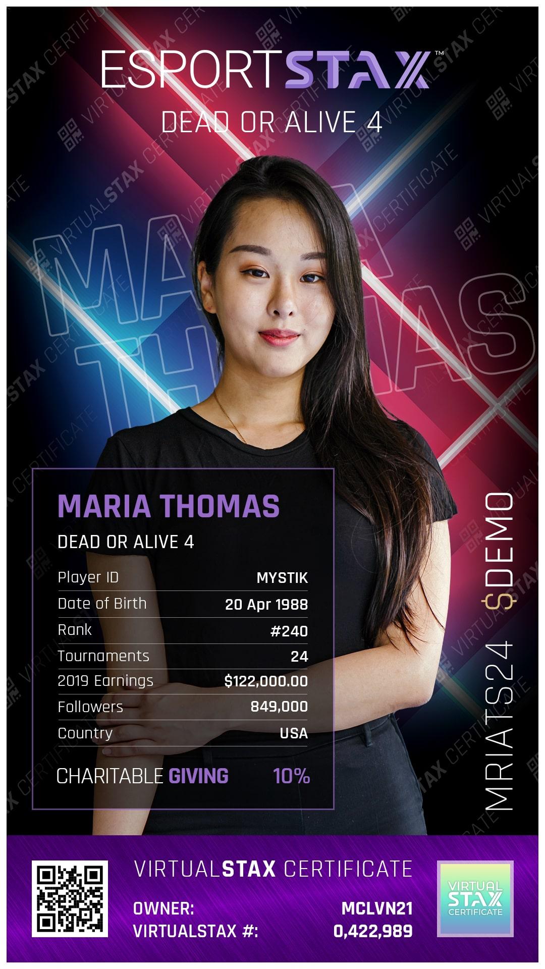 ESX Trade Card Maria Thomas