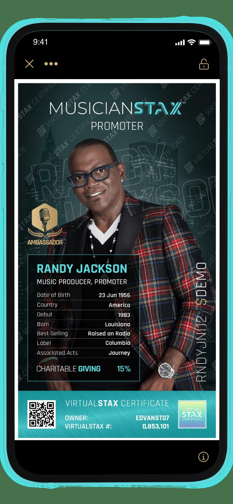 MusicianStax App Randy Jackson