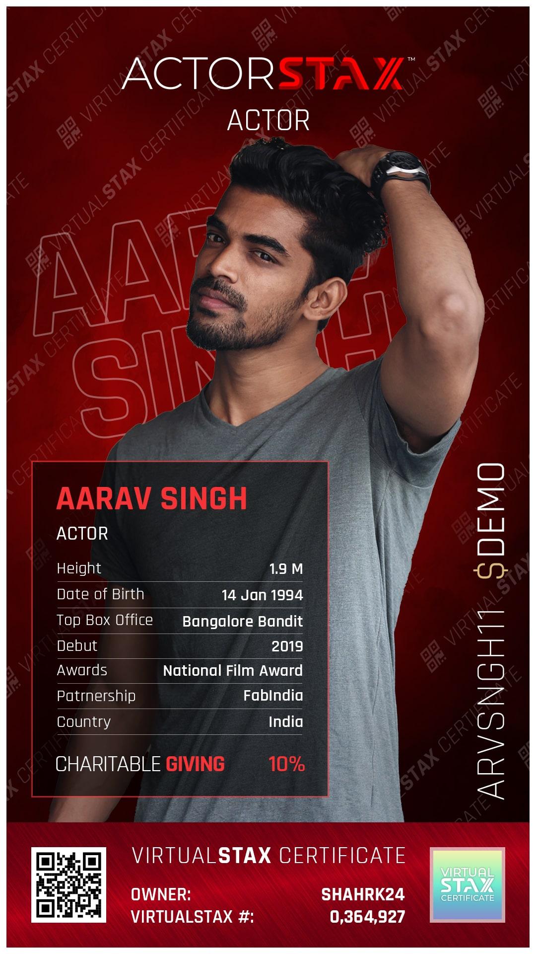AX Trade Card Aarav Singh
