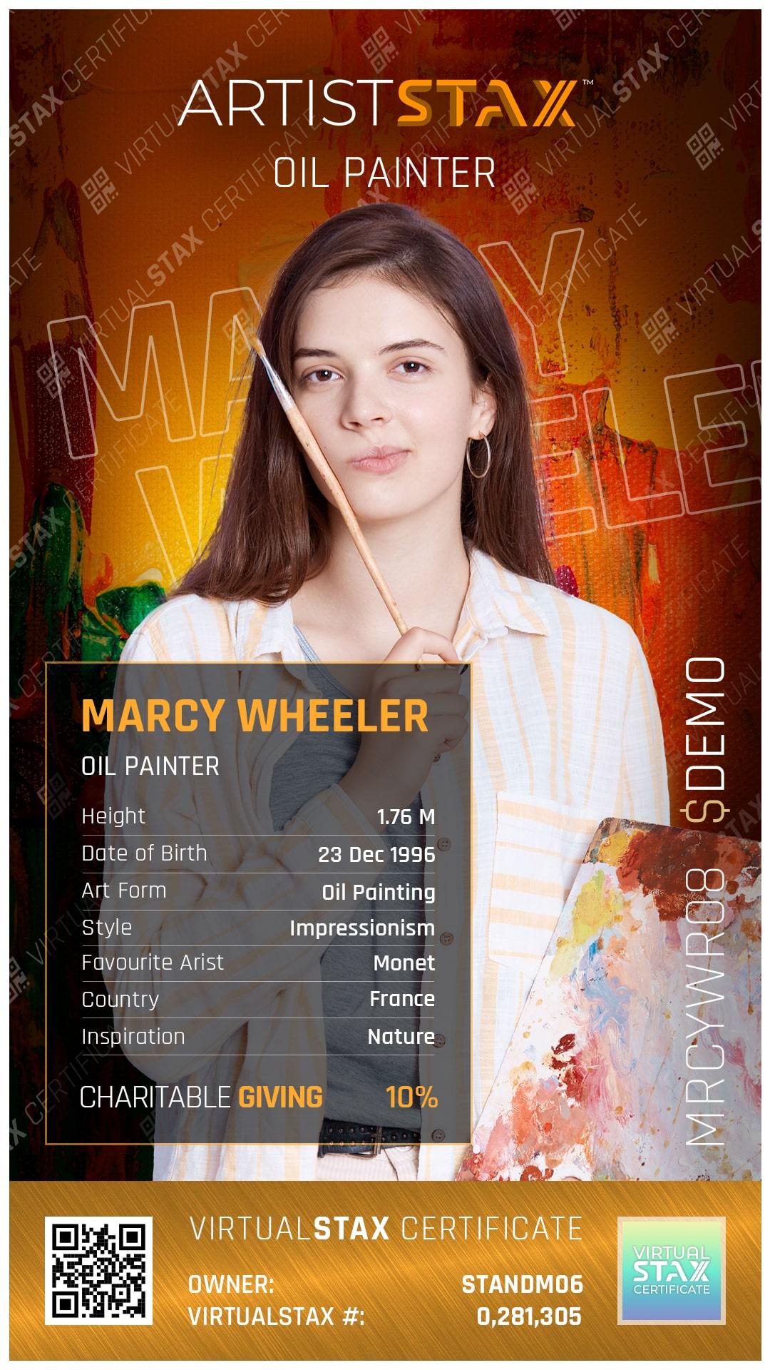 AX Trade Card Marcy Wheeler