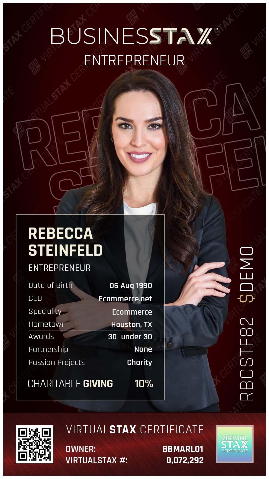 BX Trade Card Rebecca Steinfeld