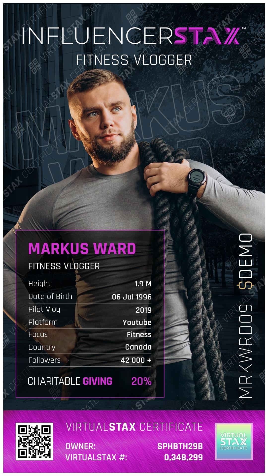 IX Trade Card Markus Ward
