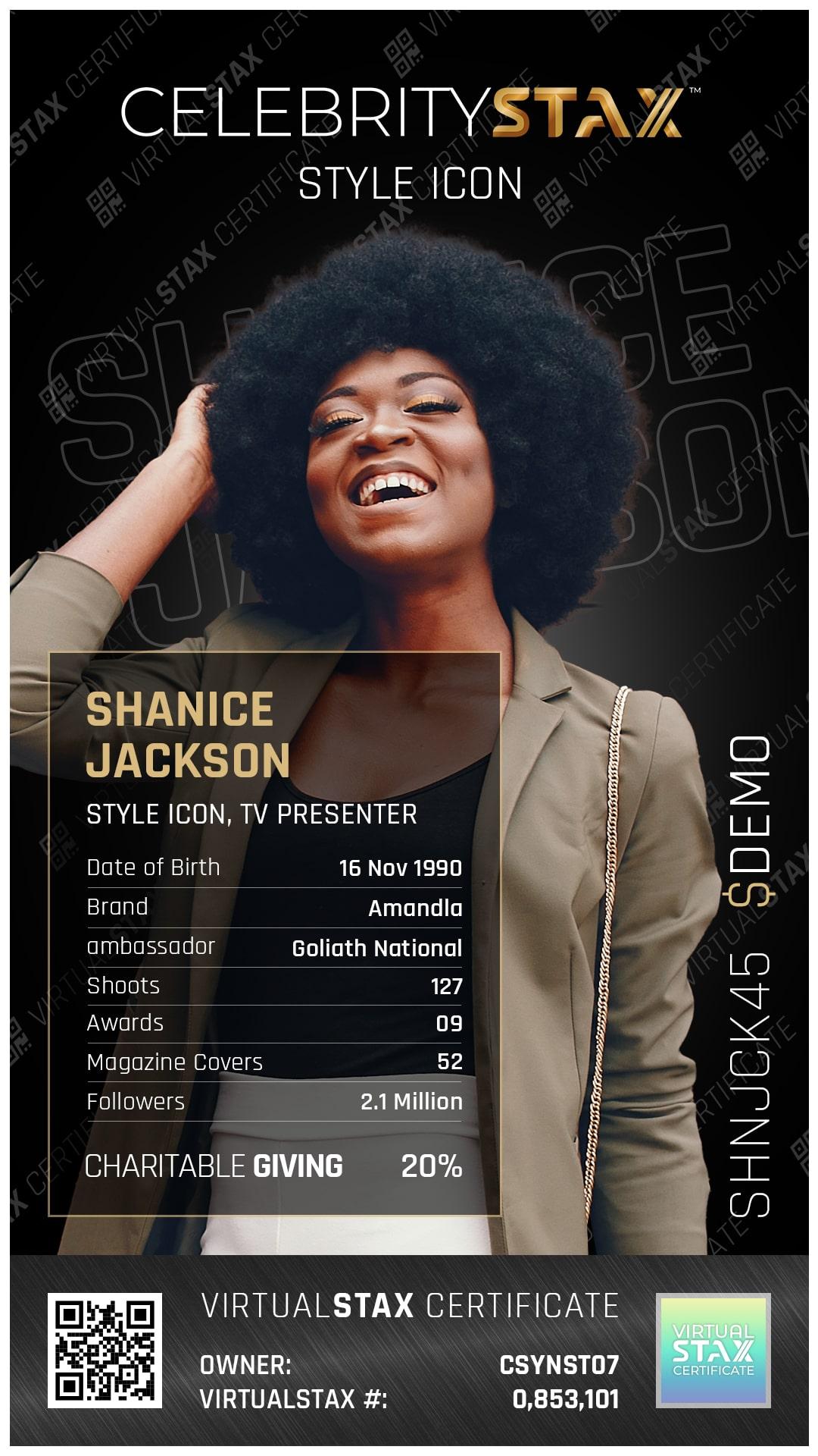 CX Trade Card Shanice Jackson