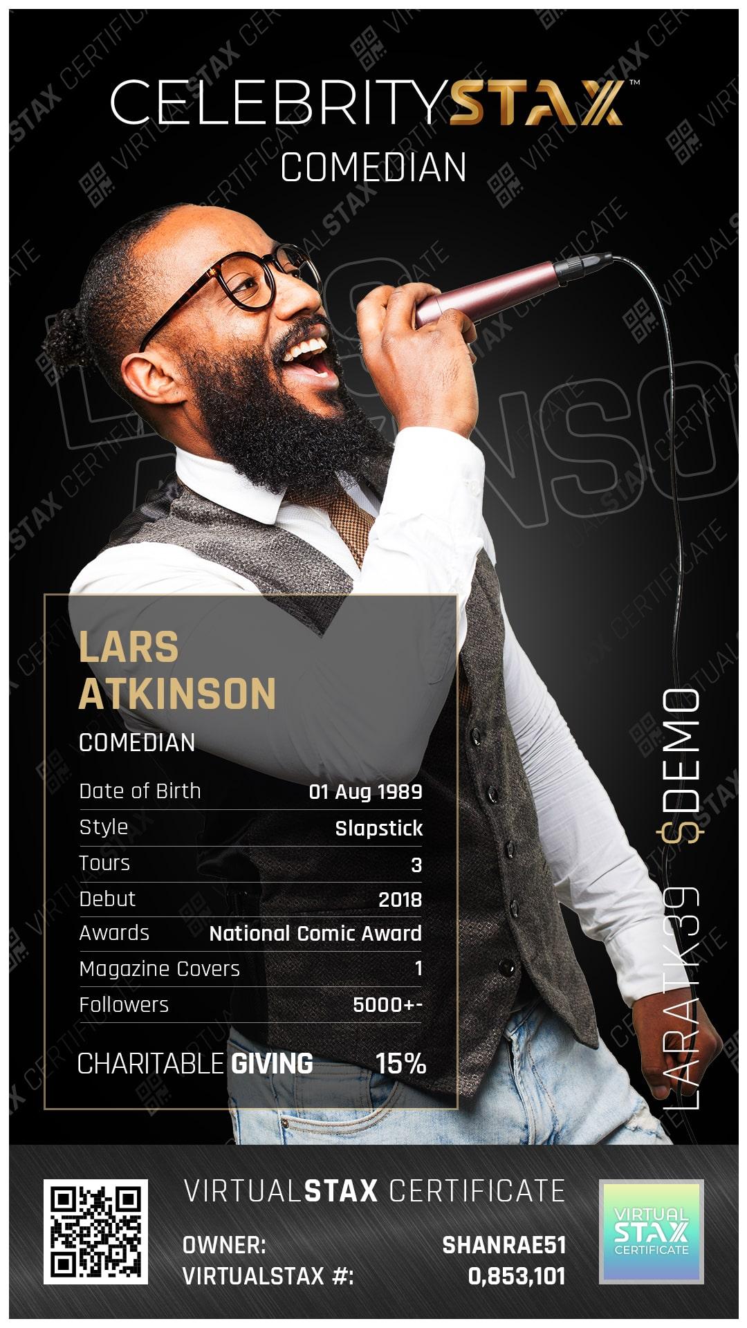 CX Trade Card Lars Atkinson