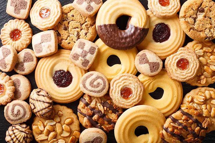 Wide assortment of cookies